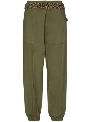 Укороченные брюки - зеленые R13