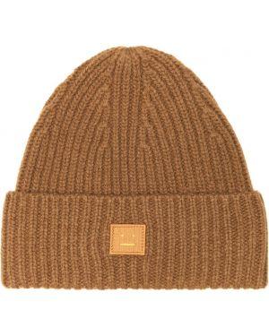 Klasyczny brązowy czapka beanie wełniany Acne Studios Kids