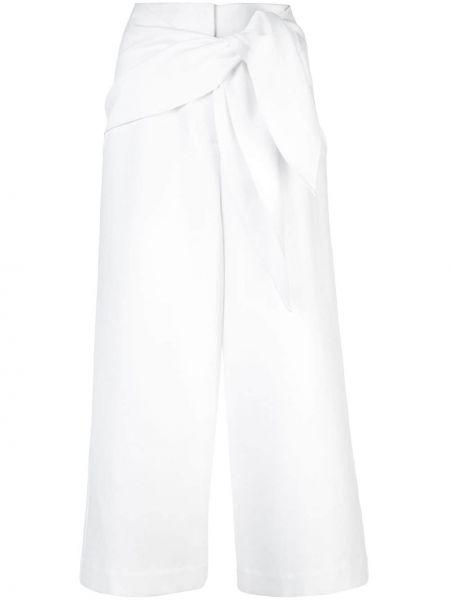 Укороченные брюки белые с завязками Tibi