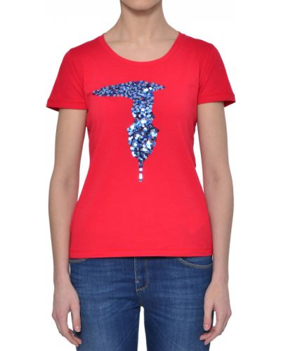 Футболка красный Trussardi Jeans