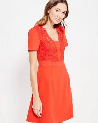 Платье осеннее красный La Petite Etoile