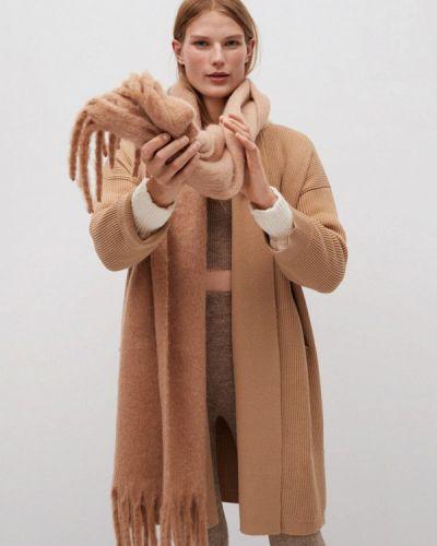 Бежевое пальто Mango