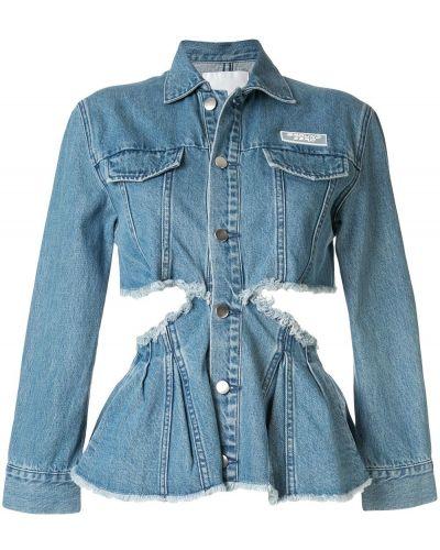 Приталенная синяя джинсовая куртка на пуговицах Ground Zero
