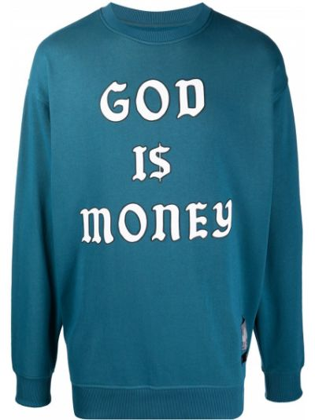 Niebieska bluza z długimi rękawami bawełniana Buscemi