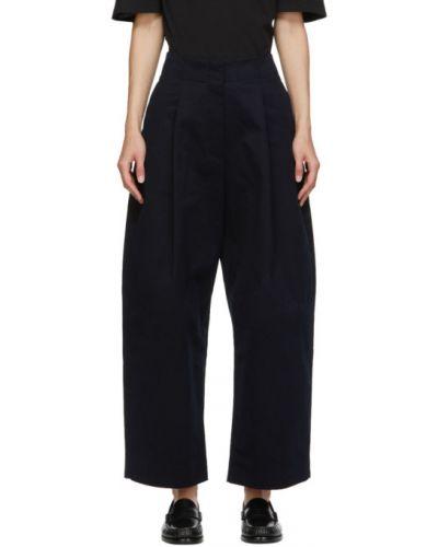Хлопковые брючные брюки с карманами свободного кроя Studio Nicholson