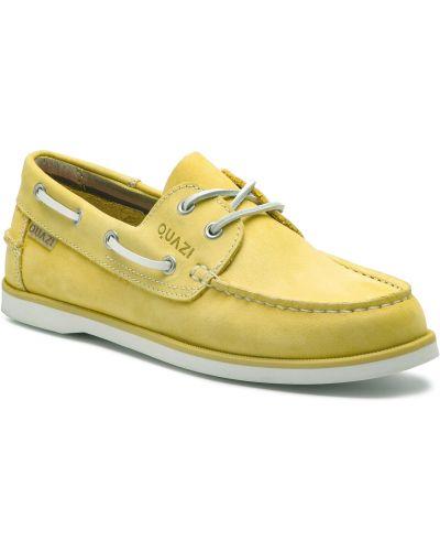 Mokasyny skorzane - żółte Quazi