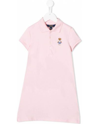 Платье с рукавами короткое с манжетами Ralph Lauren Kids