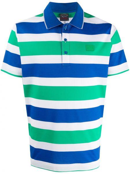 Koszula krótkie z krótkim rękawem klasyczna zielona Paul & Shark