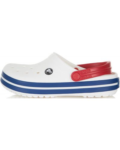 Пляжные шлепанцы белые спортивные Crocs