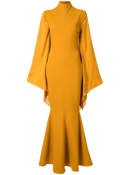 Платье макси с рукавами с кружевными рукавами Solace London