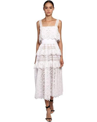 Платье на бретелях на молнии Elie Saab