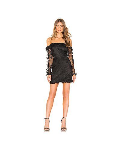 Платье мини футляр с прозрачными рукавами Lovers + Friends