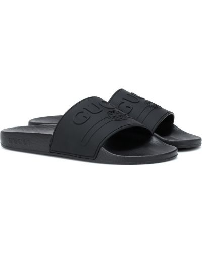 Czarne klapki Gucci