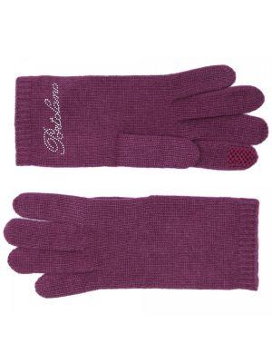 Бордовые трикотажные перчатки Portolano