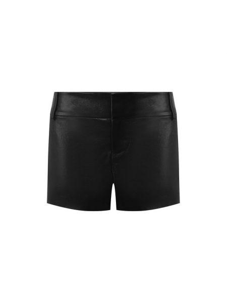 Кожаные черные короткие шорты с поясом Alice + Olivia