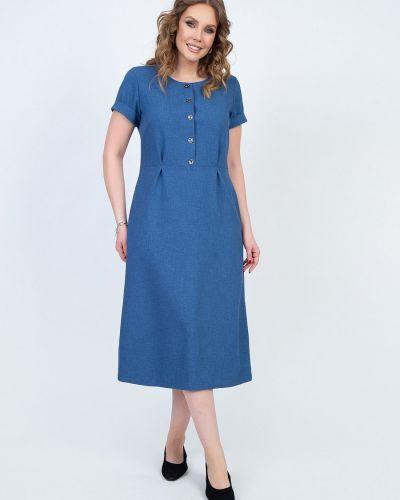Приталенное с рукавами платье мини из вискозы Diolche
