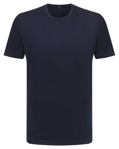 Хлопковая синяя футболка Capobianco