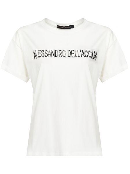 Хлопковая футбольная белая футболка Alessandro Dell'acqua