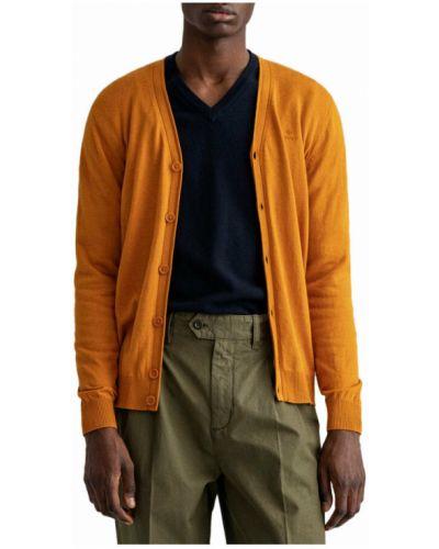 Kardigan - pomarańczowy Gant