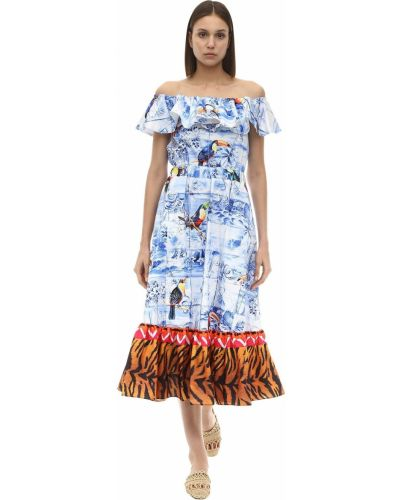 Платье мини с поясом с оборками Stella Jean