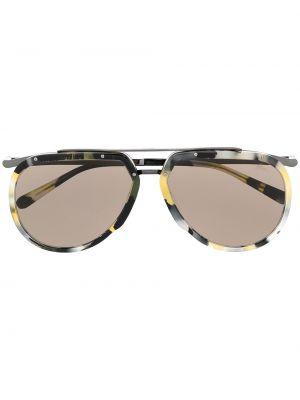 Czarne okulary z printem Brioni