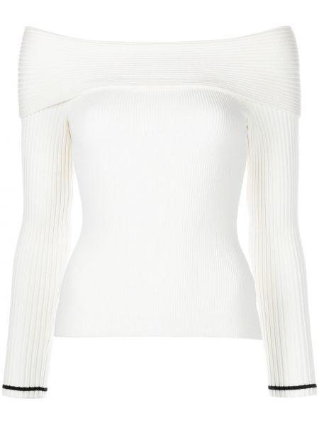 Biała koszulka z długimi rękawami Milly