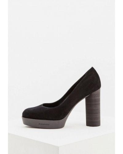 Туфли на каблуке осенние замшевые Baldinini