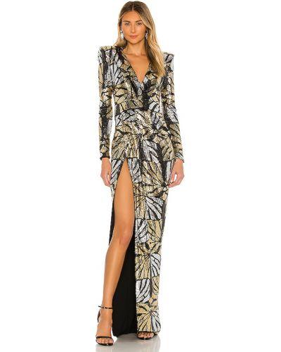 Złota czarna sukienka wieczorowa Zhivago