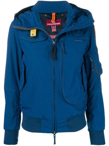 Синяя куртка с капюшоном на молнии Parajumpers