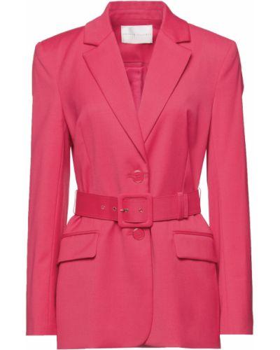 Шерстяной малиновый пиджак с поясом Rebecca Vallance