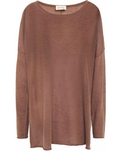 Коричневый шерстяной свитер винтажный American Vintage