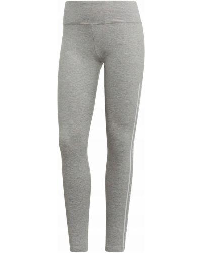 Klasyczne szare legginsy bawełniane Adidas