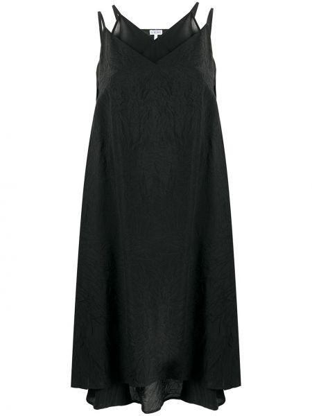 Sukienka mini z kieszeniami czarny Loewe