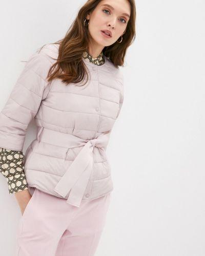 Утепленная розовая куртка снежная королева