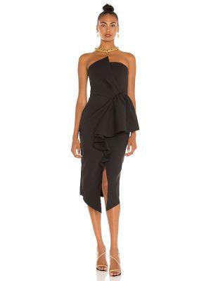 Czarna sukienka rozkloszowana casual silikon Elliatt