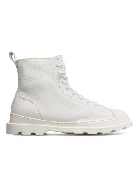 Białe ankle boots skorzane miejskie Camper
