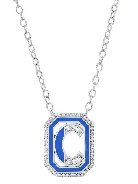 Biały złoty naszyjnik z diamentem Colette