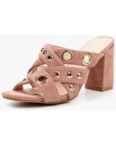 Розовые сабо на каблуке Sergio Todzi