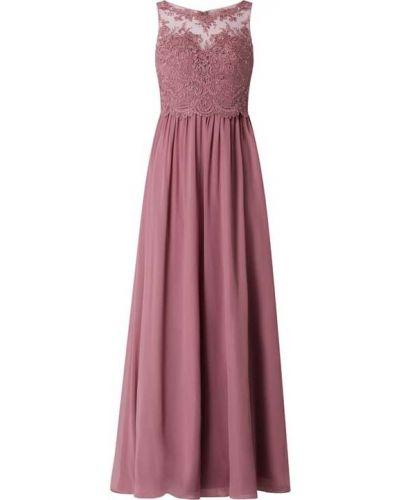 Różowa sukienka wieczorowa rozkloszowana tiulowa Laona