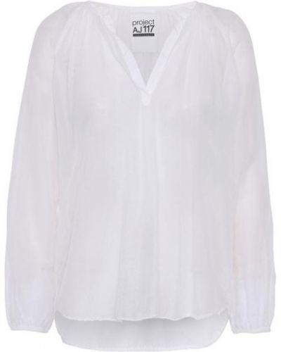 Biała bluzka z długimi rękawami Project Aj117