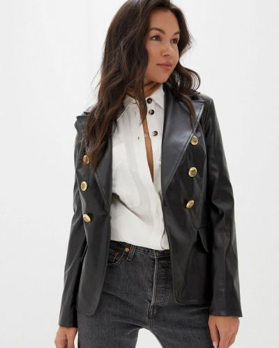 Кожаная куртка черная осенняя Gold Chic Chili