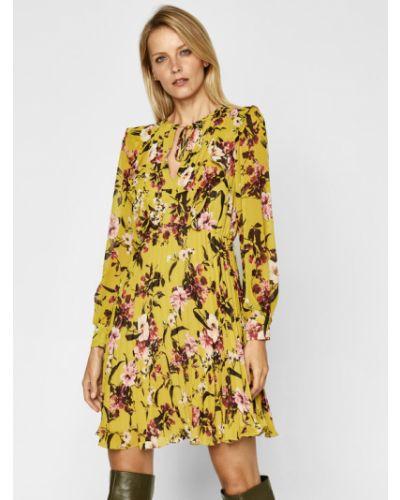 Żółta sukienka casual Iblues