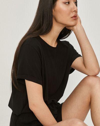 Czarna piżama krótki rękaw z wiskozy Answear Lab