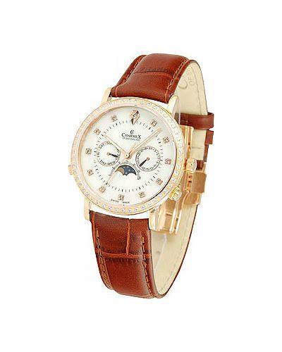 Часы с кожаным ремешком стрелочные швейцарские Charmex