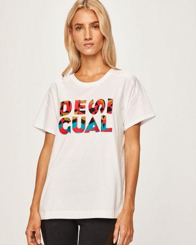 Футбольная спортивная футболка с декольте с аппликациями Desigual Sport