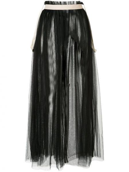 Плиссированная черная юбка прозрачная из фатина Aleksandr Manamïs