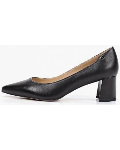 Туфли на каблуке черные кожаные Antonio Biaggi