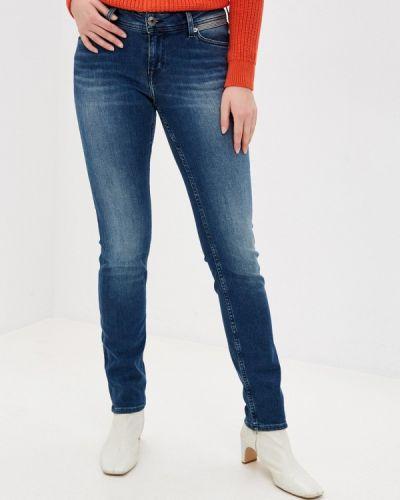 Синие джинсы-скинни узкого кроя Mustang