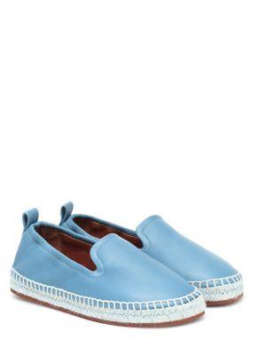 Синие кожаные эспадрильи Loro Piana Kids