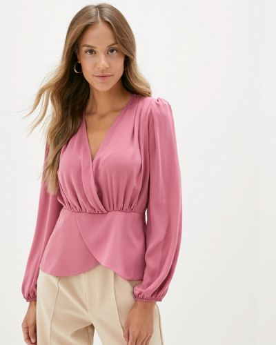 Блузка с длинным рукавом розовая турецкий Adl